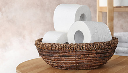 Production of wet / dry toilet paper